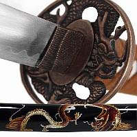 Drachen Katana, Samuraischwert mit Drachenmotiven