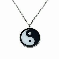 Yin-Yang Halskette mit Anhänger