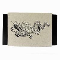 Makiwara Schlagkissen aus Canvas, mit Drachenaufdruck