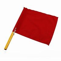 Rote Schiedsrichterflagge für Kampfsport