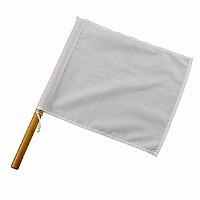 Weiße Schiedsrichterflagge für Kampfsport