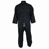 Kung Fu Anzug in klassischem Design, 100% Baumwolle, schwarz, verschiedene Größen