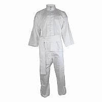 Kung Fu Anzug in klassischem Design, 100% Baumwolle, weiß