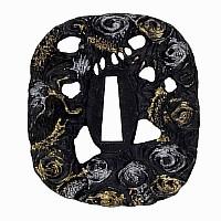 Tsuba für Samuraischwert, Motiv: Drachen