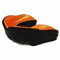 Mundschutz - Single, Geleinlage, orange/schwarz, verschiedene Größen